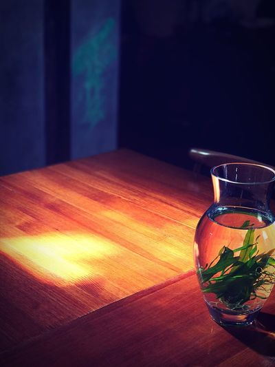 Light and Shadow. Refreshment Drink Table Indoors  Food And Drink No People Drinking Glass Tea - Hot Drink Healthy Eating Close-up Herbal Tea Freshness Day Mint Tea