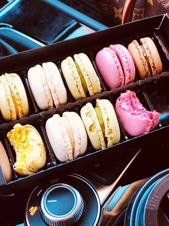 Food And Drink Sweet Sweet Food Still Life No People Dessert Variation Close-up Macaroon High Angle View Indoors  Choice Unhealthy Eating Temptation Indulgence