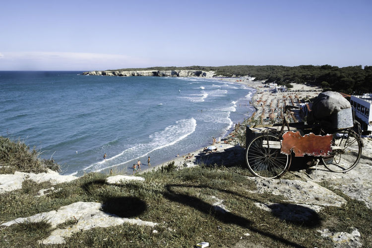 Apúlia Beautiful Nature Beauty In Nature Blue Blue Sky Blue Wave Italy Lecce Live For The Story Puglia Rock Formation Rocks Rocks And Water Salento Salento Puglia Salento, Italy Sea Sea And Sky Seascape Seaside Summer Summertime Tourism Tourist Attraction  Travel Destinations