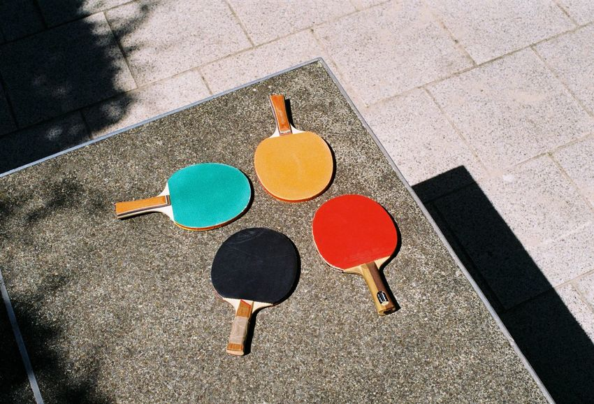 PING PONG PANG PENG 35mm Analogue Moments Childhood Day Eye ❤️ Foto Kotti EyeEm Diversity High Angle View Lunchbreak One Person Outdoors Paddles People Ping Pong Playing Sport Summertime Table Tennis