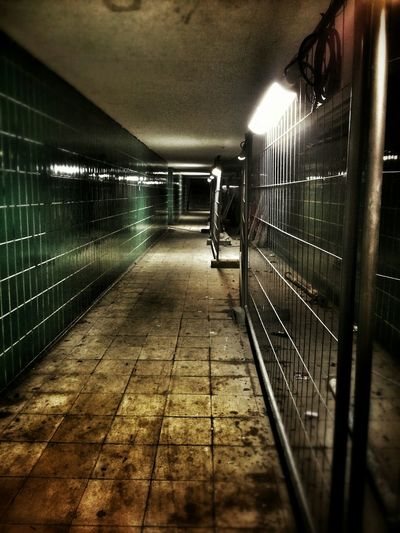 You Feel Along. Underground Trainstation Fear Darkness Sometimes you feel alone...