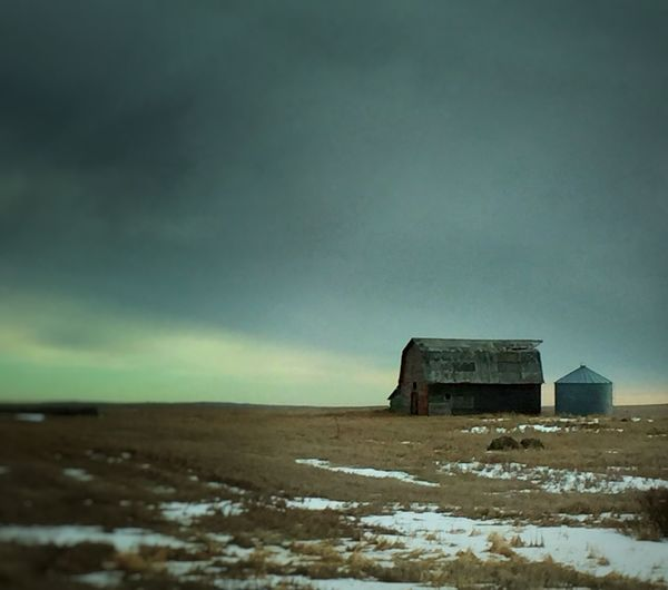 Welcomeweekly IPS2016Winter EyeEm Best Edits Prairie Scenes Grain Bins Showcase:february Alberta Canada Landscape_photography Iphonephotoacademy Iphonephotooftheday EyeEm Best Shots Iphoneacademy Winter Old Barns Landscapes With WhiteWall