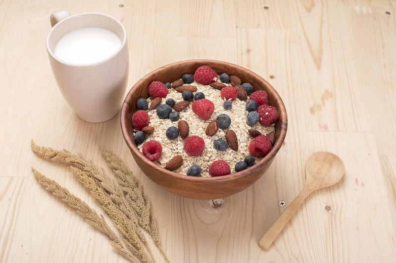 Beakfast Blueberry Clean Eating Diet Eating Food Healhty Healthy Lifestyle Milk Natural Oat Oatmeal Raspberry