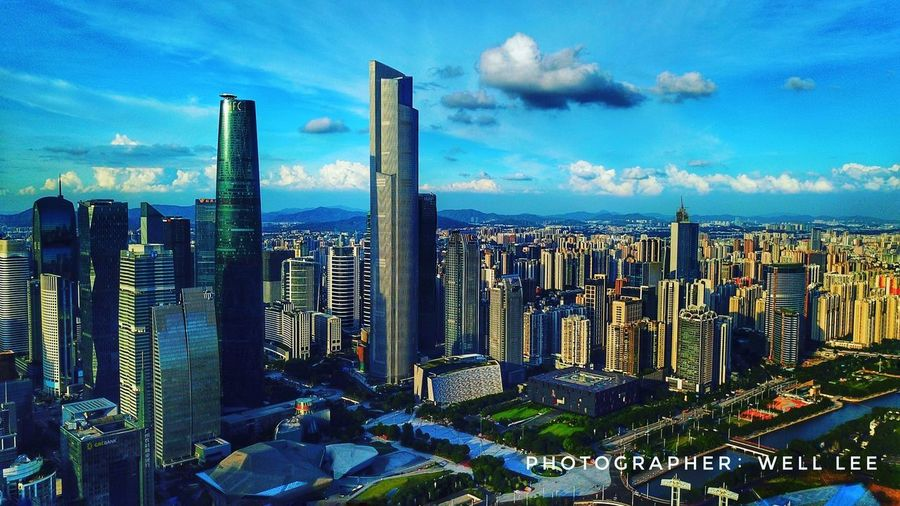 Aerial Canton Cityscape Modern City Tower Outdoors Cant Canton Guangzhou Aerialphotograph Architecture Built Structure Skyscraper first eyeem photo