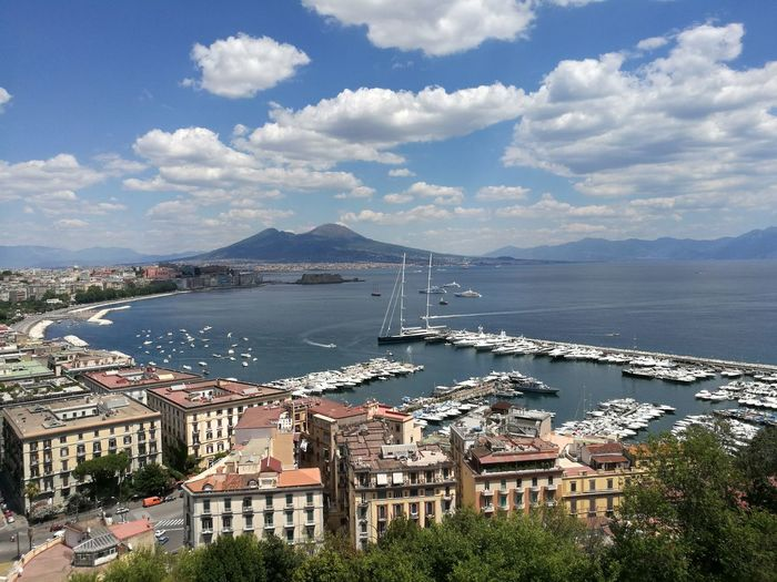 Naples, Italy Sant'antonio A Posillipo Panoramic Views Vesuviocoast Italy🇮🇹 No Filter, No Edit, Just Photography Waiting For Summer Boat Tranquility City NoFilterNoEdition Travel Destinations Vesuvio Beautiful Colors Beautiful View Sky Yacht Sea No People 2017 City Day Naples Water