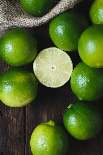 Close-up of limes
