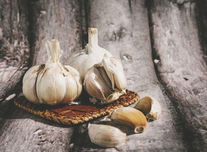 Close-up of garlic