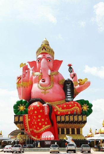 Statue Ganesha chaoengsao thailand Thailand Statue Ganesha Big-idol Idol Chachoengsao Red