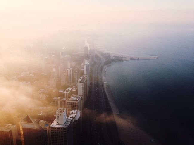Check This Out Chicago Open Edit Architecture Fog Sunset Cityscapes