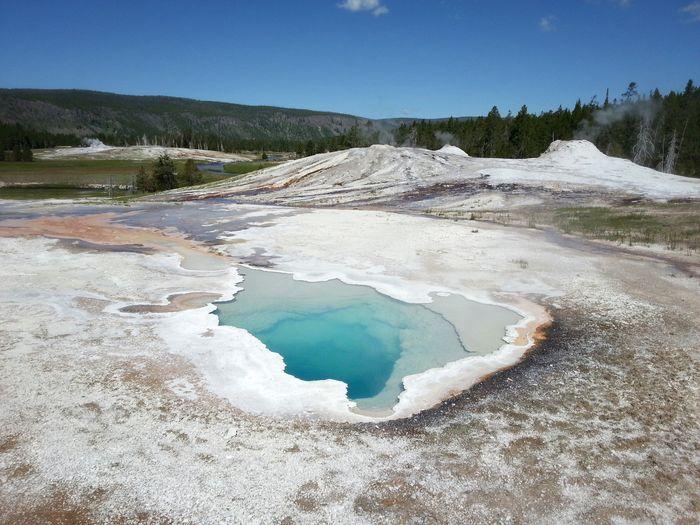 Landscape with salt lake