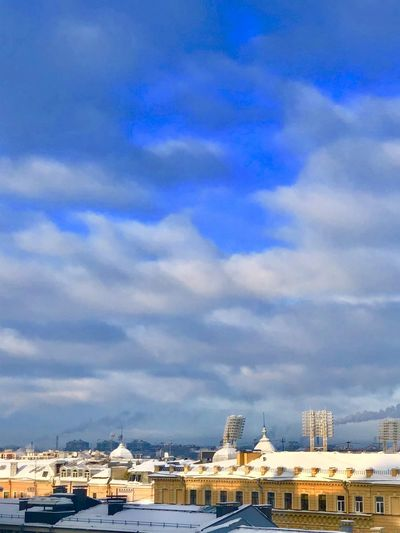 winter roofs of