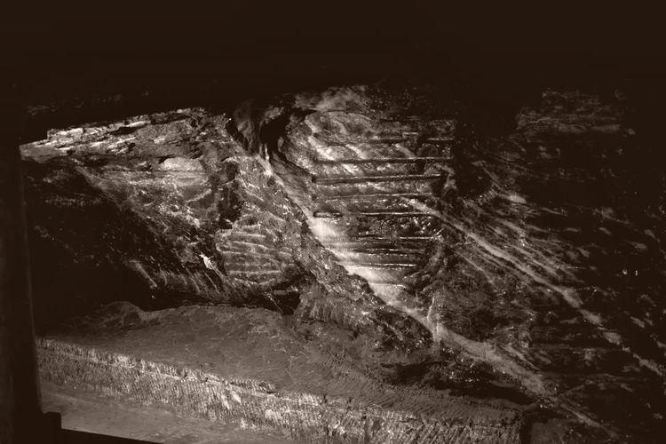 in a salt mine