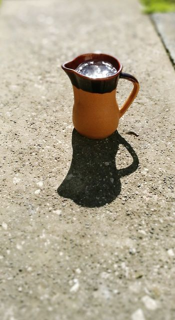 Good Mourning ! Ice Age ❄ Old Jug Shadow Brown Colour Sunshine ☀ Shadow Photography Outdoors Photography Cement, Concrete, Gray, Stone, Hard, Construction, Urban, Paving, Taking A Break