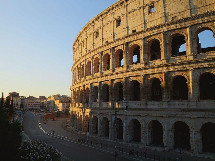 Facade of colosseum