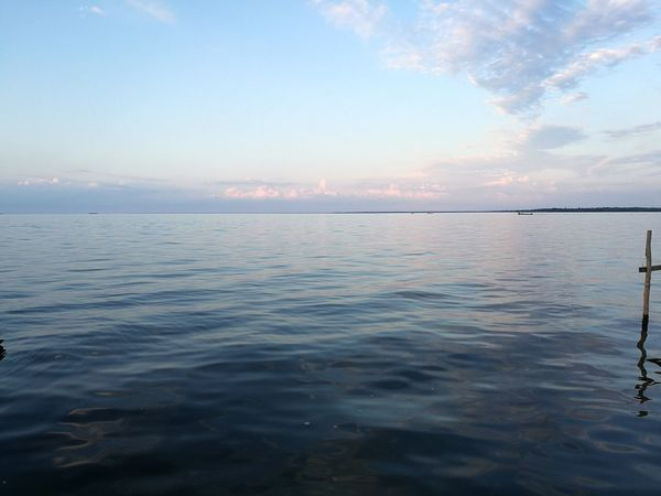 Tranquil Scene Sea Scenics Landscape Sky Tranquility Blue Water Cloud - Sky Sunset Nature Outdoors Beach Beauty In Nature No People Horizon Over Water Travel Destinations City Day Beauty
