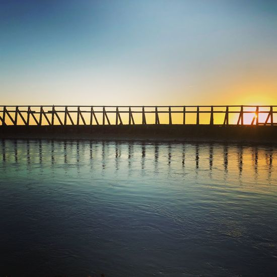 Sunset Sunset Photography Reflections Harbour Beach Harbourside Sky Water Clear Sky Nature Scenics - Nature Sea Copy Space Beauty In Nature Architecture Reflection Tranquility No People Sunset Waterfront Tranquil Scene Built Structure Railing Day Outdoors Horizon Over Water