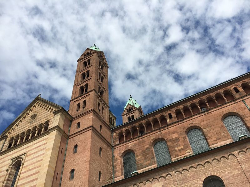Speyer Speyerer Dom Speyer, Germany Dom Dome Architecture Building Exterior Built Structure Low Angle View Sky Cloud - Sky Travel Destinations Religion Tower Day Outdoors Place Of Worship Government Clock Tower History No People Spirituality City Politics And Government Catholic