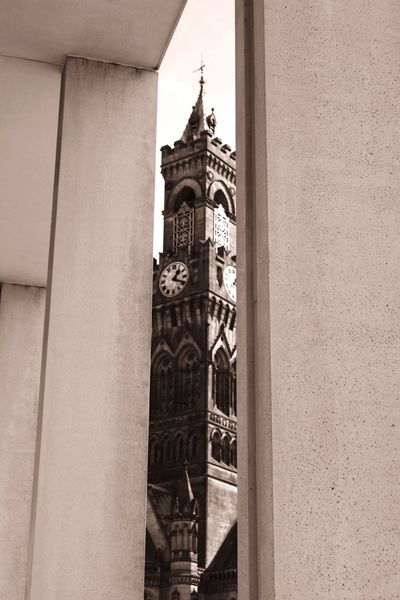 EyeEm Selects Built Structure Architecture Building Exterior Day No People Low Angle View City Gothic Bradford Yorkshire View Clock Tower Civic Urban Glimpse
