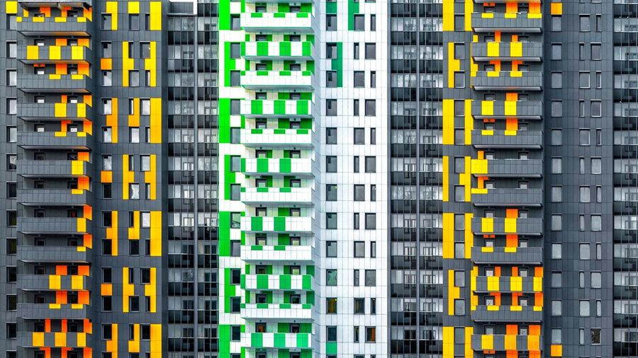 Architecture No People Full Frame Building Exterior Building Yellow Built Structure Outdoors Industry Modern City Directly Above In A Row Business Finance And Industry Order Multi Colored Residential District Backgrounds Day Business