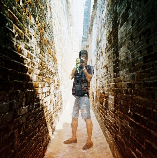 Creative Light And Shadow HongKong Film Photography Lubitel 166+ Rollei CR200 Double Exposure