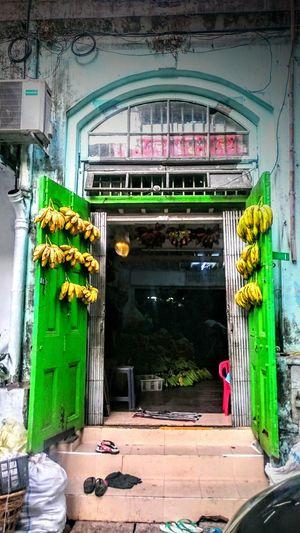 My Favorite Breakfast Moment Getting Bananas Bananas For Sale Colonial Yangon Bananas Gateway Myanmar Burma Birma For Sale Open The Gate Fruit Going To The Market