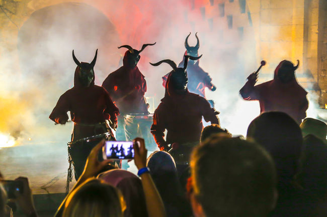 Backlight Celebration Drummer Horns Silhouettes Smoke Spanish Tradition Arts Culture And Entertainment Audience Celebration Event Crowd Dramatic Large Group Of People Men Night Outdoors Outdoors Photograpghy  People Performance Performance Group Real People Theatre Arts Togetherness Traditional Festival