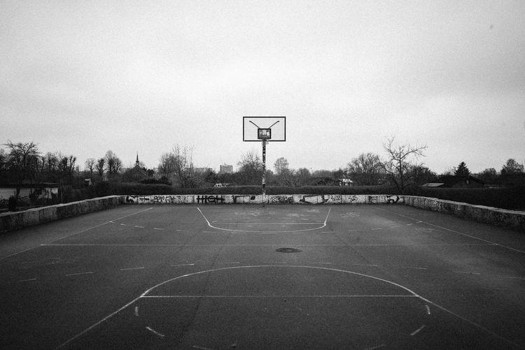 View of basketball hoop against sky