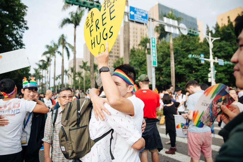 Taipei, Taiwan - Oct 28, 2017: Hundreds of thousands came out on streets of Taipei for the 15th Taiwan Pride Parade. The parade started marching from Ketagalan Boulevard to three different avenues and made Taipei even more colorful with all shades of rainbow. This year's goal is to promote inclusive education as it would lead to better acceptance. Taiwan is about to be the first in Asia to officially legalize 'equal marriage'. Gay Pride LGBT Rainbows LGBT Rainbow Rainbowflag Taipei Pride Taiwanese Gay Pride Parade Gaypride Lgbt Flag Lgbt Pride Lgbtpride Loveislove Lovewins Pride2017 Prideparade Rainbow Taiwan Pride Taiwanpride Taiwanpride2017 This Is Queer Love Is Love