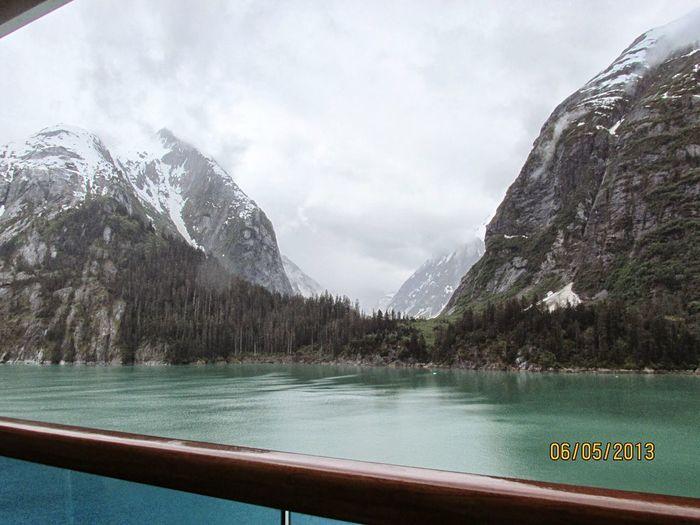 Inner passage Alaska. Tranquil Scene Water Cloud - Sky Alaska Inner Passage. Ice Age