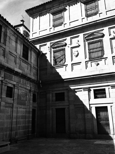 Black & White Light And Shadow Old World Architecture