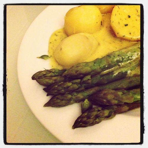Eating Asparagus