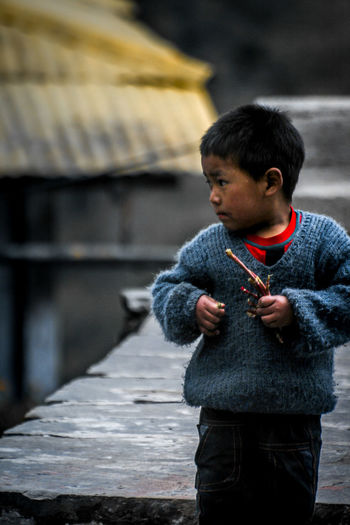 Monastery Portrait Arunachal Pradesh Warm Clothing Tawang Asian  India Northeast Portrait Portrait Photography Portrait Of A Child Standing Child Males  Wool Place Of Worship Knitted