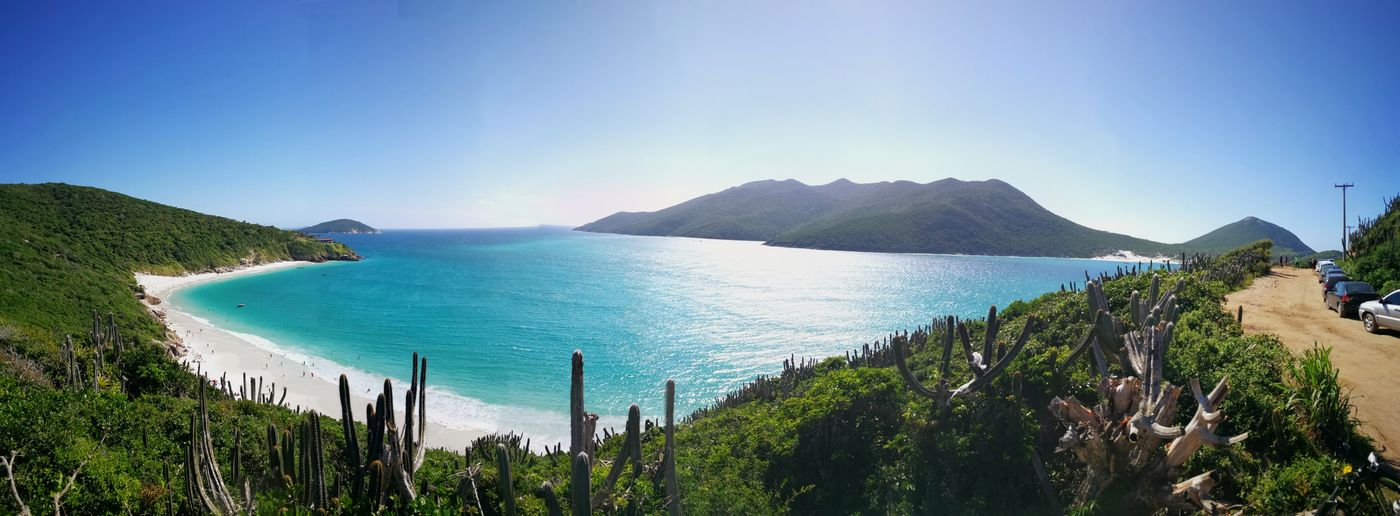 I did not resist and I returned to Arraial do Cabo Huaweiphotography Huaweimate9 Photooftheday EyeEm Nature Lover Eye4photography  Tree Water Clear Sky Mountain Sea Beach Blue Panoramic High Angle View Sky Coconut Palm Tree Volcanic Landscape Lagoon Turquoise Colored Seascape French Polynesia Tropical Tree