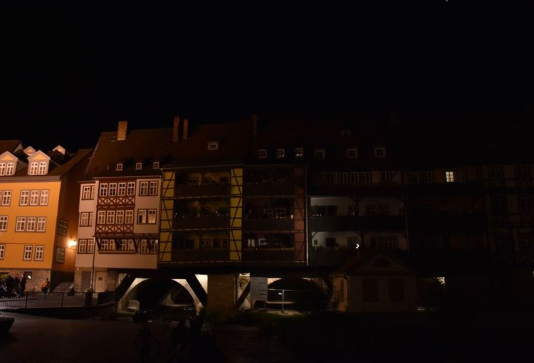 My favorite spot in Erfurt! 🇩🇪 Germany Thuringia Erfurt Night Illuminated Architecture Built Structure Outdoors Building Exterior City Houses Bridge Inhabited Krämerbrücke Night Lights Nightphotography Night Photography Building Europe