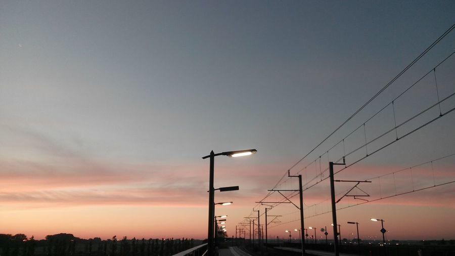 Commuting Public Transportation Sunriseporn Sun And Clouds