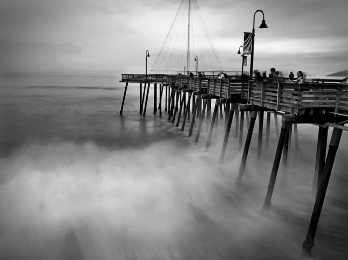 Water Sky Sea Cloud - Sky Nature Tranquility Tranquil Scene Outdoors Pier