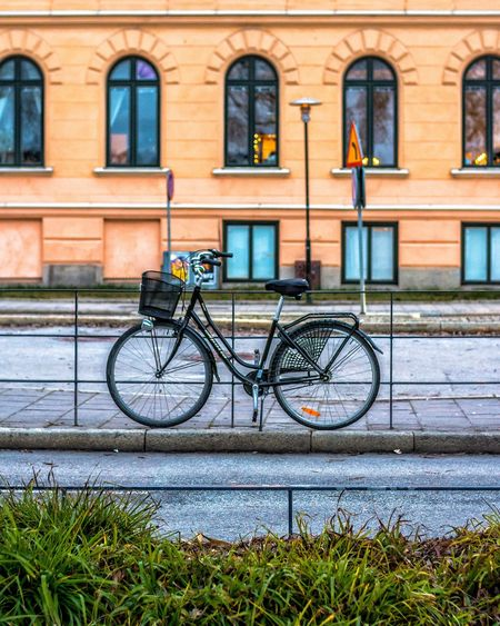 Healthy Nature. Cycle Streetphotography Stockholm Street Travel Photography Streetphotography EyeEm Selects Bicycle Transportation Building Exterior Mode Of Transport Day Outdoors