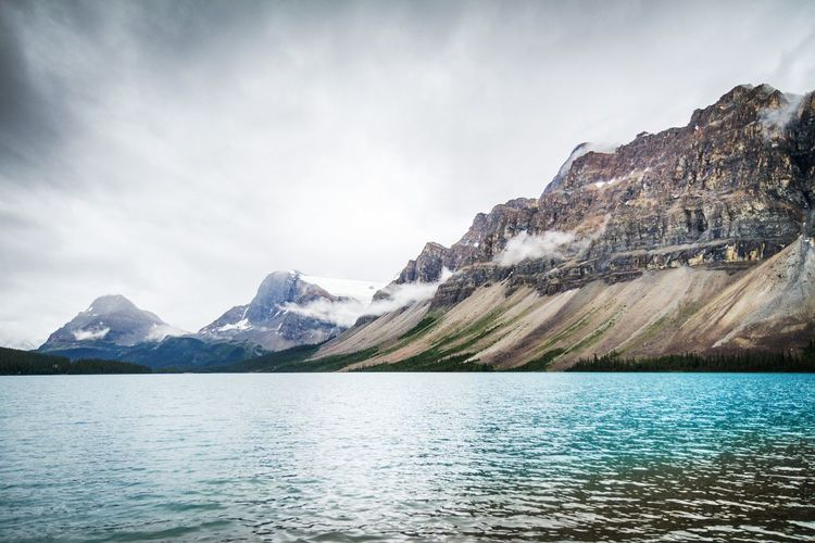Bow Lake, AB, nature, landscape, water, rockies, canada