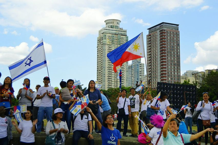 Israel-Philippines Friendship Day Eyeem Philippines Philippines Israel Crowd Unity Togetherness Patriotism Flag This Is Family The Portraitist - 2018 EyeEm Awards The Photojournalist - 2018 EyeEm Awards The Street Photographer - 2018 EyeEm Awards