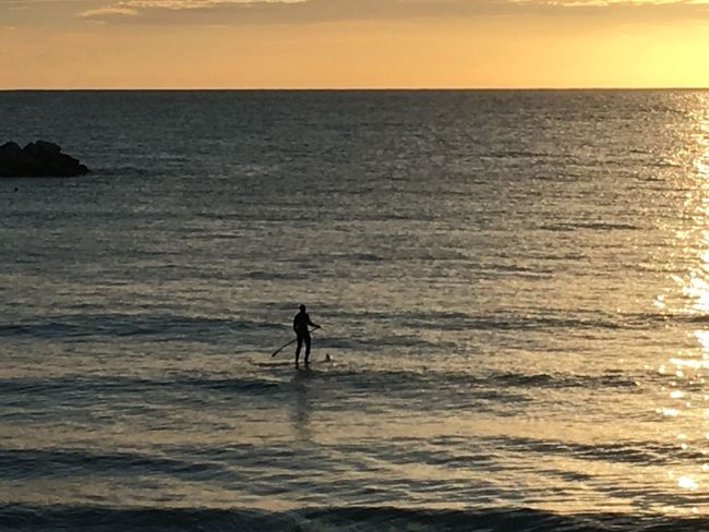 Sea Water Horizon Over Water Nature Real People Beauty In Nature Sunset Adventure Waterfront Scenics Surfing Sky Leisure Activity Wave Surfboard Men Sport Outdoors Lifestyles Challenge sup