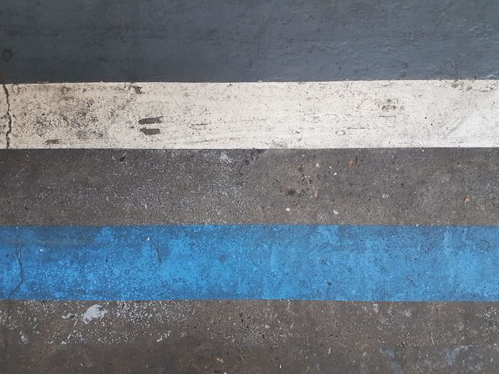 Parallel Paralell Lines Double Lines Street Lines Geometric Shape Blue Lines White Lines Blue And White Road Road Surface Backgrounds Blue Full Frame Textured  Pattern Close-up LINE Asphalt Roadways White Line Road Marking Road Marking Empty Road