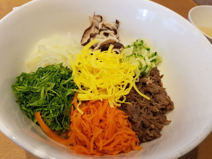 Bibimbap Korean Food 비빔밥 Bowl Plate Close-up Food And Drink