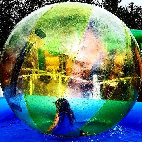 Bubble Bubbles In Water Yellow Water Blue Childhoodunplugged Childhood Child Kidinabubble Ball