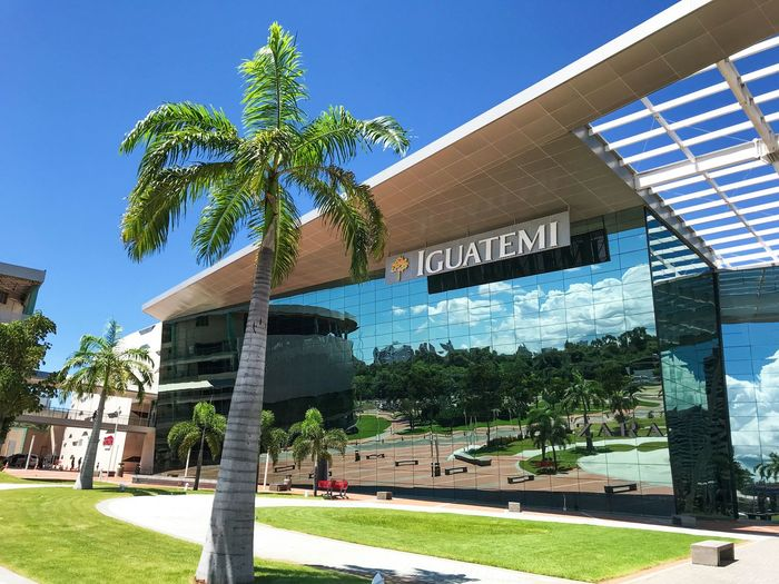 How beautiful the sun can be in mirrors windows. IguatemiShopping Fortaleza - Ce Plant Tree Architecture Building Exterior Nature Built Structure Day Sunlight Building
