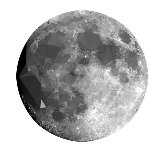 The Moon in Low Poly Style on White Background Low Poly Bling Bling Circle Close-up Crystal Cut Out Diamond - Gemstone Gemstone  Geometric Shape Indoors  Jewelry Low Poly Design Low Poly Planet Low Poly Style Luxury Mineral No People Precious Gem Semi-precious Gem Shape Shiny Single Object Still Life Studio Shot Wealth White Background