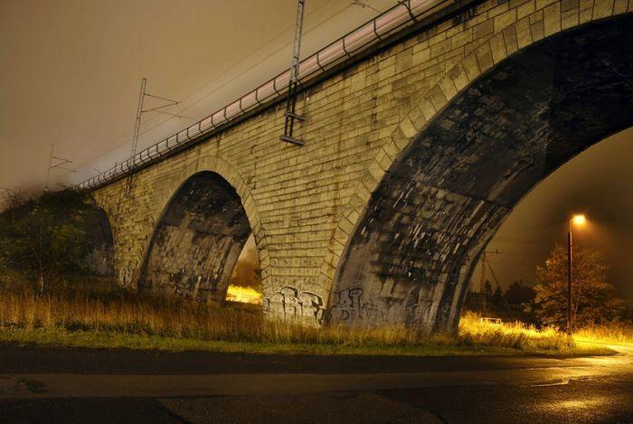 Bridge Most HDR Noc Night Night Lights Arch City Architecture
