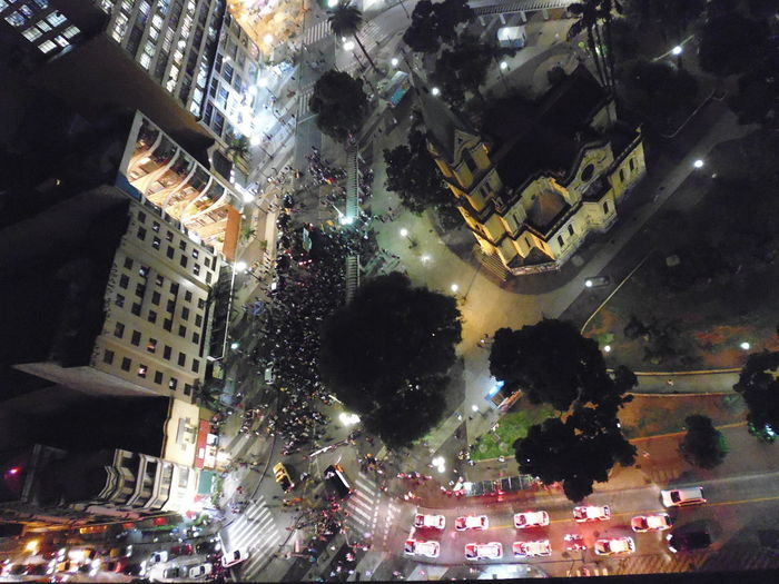Nighttime Protest Blocking the Street Blockade Night Photography Street Protest Susan A. Case Sabir Unretouched Photography Architecture Building Exterior Built Structure City City Life Cityscape Crowd Downtown São Paulo High Angle View Illuminated Large Group Of People Month Of April Night Not A Drone Photo Outdoors People Real People Tree View From 23rd Floor