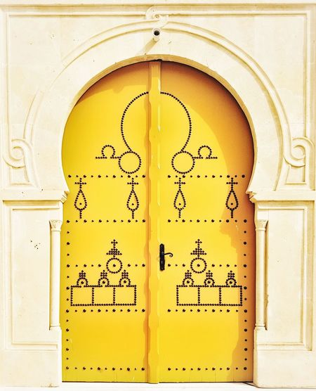 Paint The Town Yellow Arch History Architecture Ancient Yellow No People Close-up Day Indoors  Door Yellow Door Yellow Color