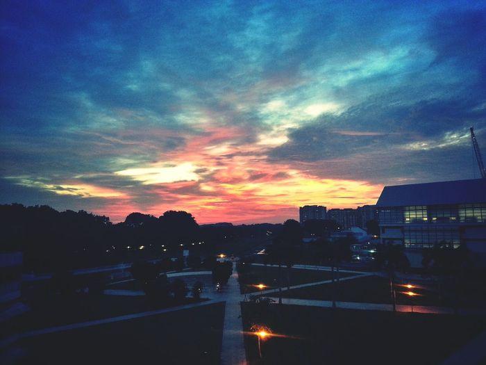 Cotton Candy Sky. Clouds Sky Sunset
