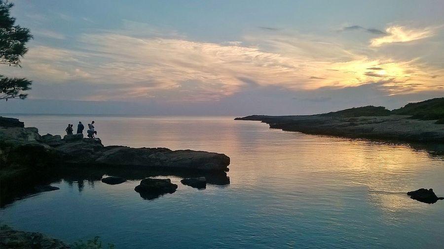 Sunset Nature Landscape Peaceful Place Silence Porto Selvaggio Puglia Italy
